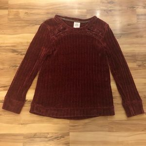 Burgundy Chenille Knox Rose Sweater